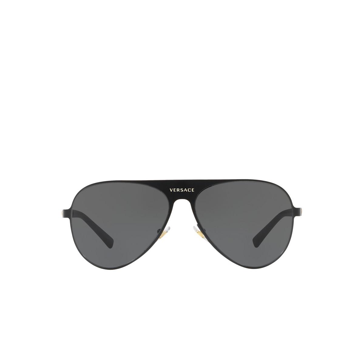 Versace® Aviator Sunglasses: VE2189 color Matte Black 142587 - front view.