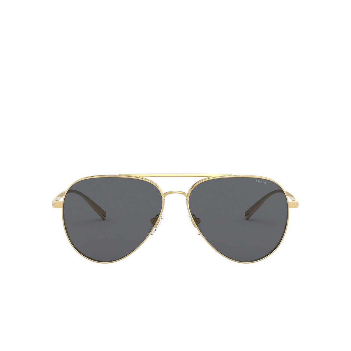 Versace® Aviator Sunglasses: VE2217 color Gold 100287 - front view.