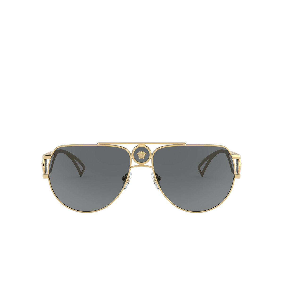 Versace® Aviator Sunglasses: VE2225 color Gold 100287 - front view.