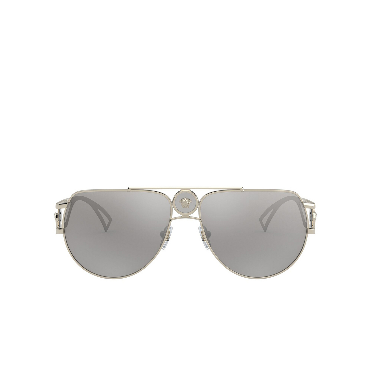 Versace® Aviator Sunglasses: VE2225 color Pale Gold 12526G - front view.