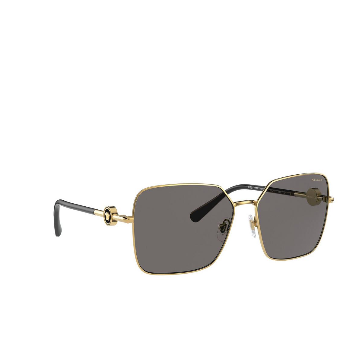Versace® Square Sunglasses: VE2227 color Gold 100281 - three-quarters view.