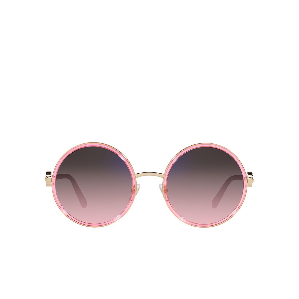 Versace® Round Sunglasses: VE2229 color Transparent Pink 1252H9 - front view.