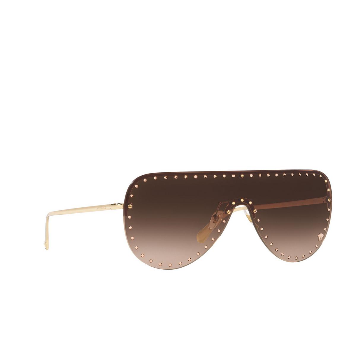 Versace® Mask Sunglasses: VE2230B color Pale Gold 125213 - three-quarters view.