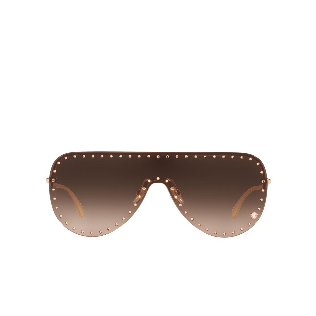 Versace® Mask Sunglasses: VE2230B color Pale Gold 125213 - front view.