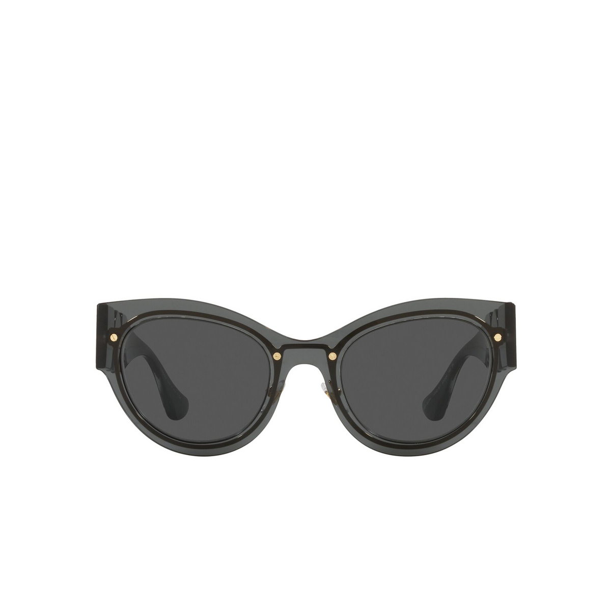 Versace® Cat-eye Sunglasses: VE2234 color Transparent Dark Grey 100287 - front view.