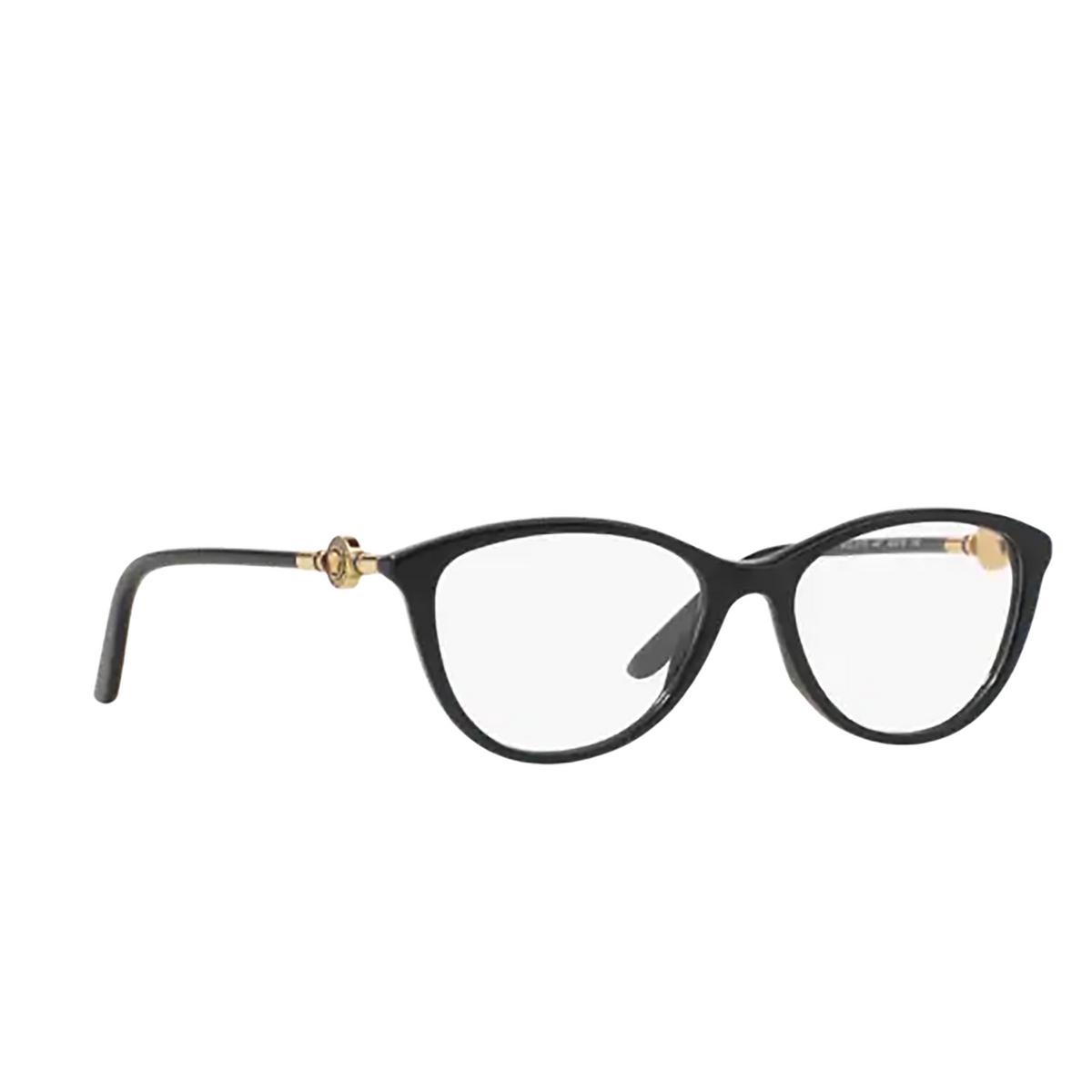 Versace® Oval Eyeglasses: VE3175 color Black GB1 - three-quarters view.