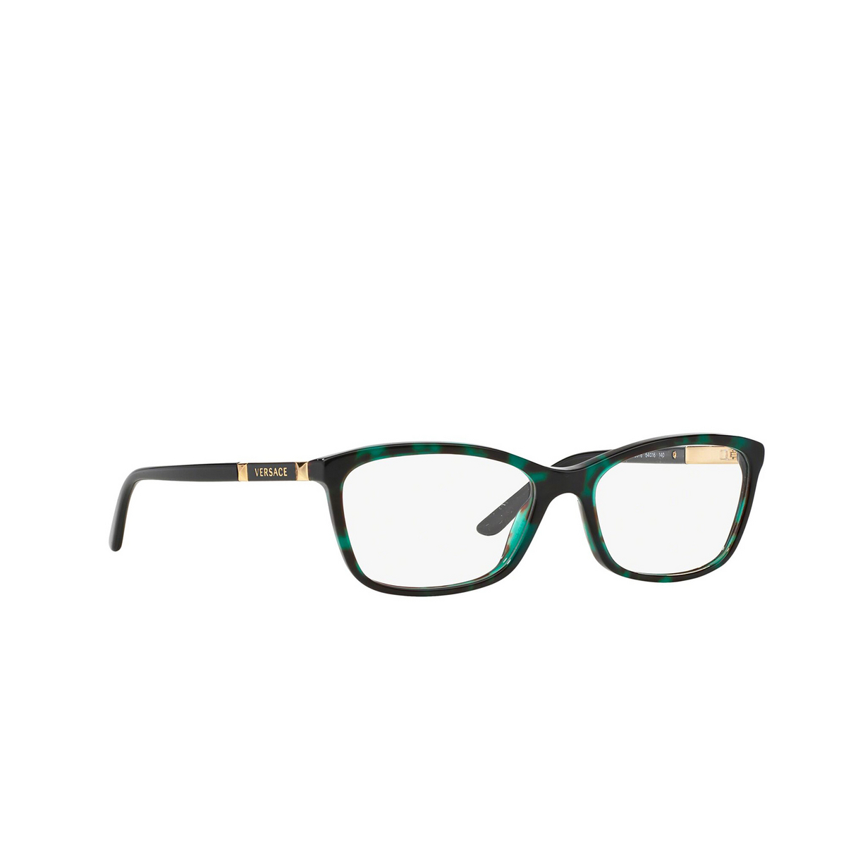 Versace® Butterfly Eyeglasses: VE3186 color Havana 5076 - three-quarters view.