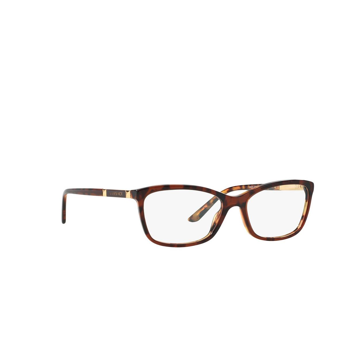 Versace® Butterfly Eyeglasses: VE3186 color Havana 5077 - three-quarters view.