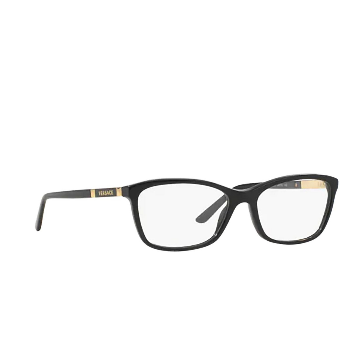 Versace® Butterfly Eyeglasses: VE3186 color Black GB1 - three-quarters view.