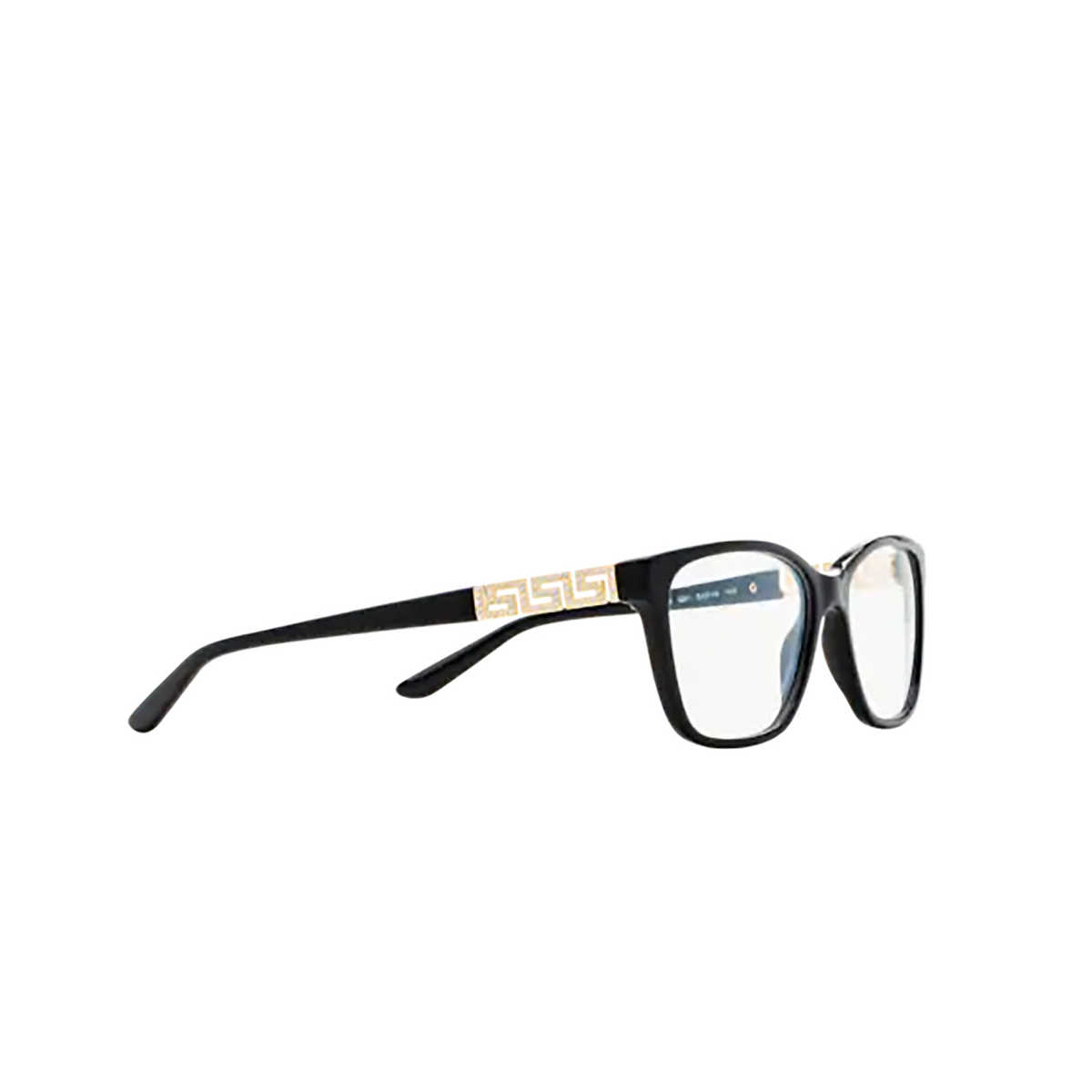 Versace® Butterfly Eyeglasses: VE3192B color Black GB1 - three-quarters view.