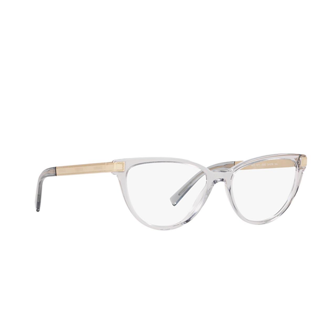 Versace® Cat-eye Eyeglasses: VE3271 color Transparent Grey 5305 - three-quarters view.