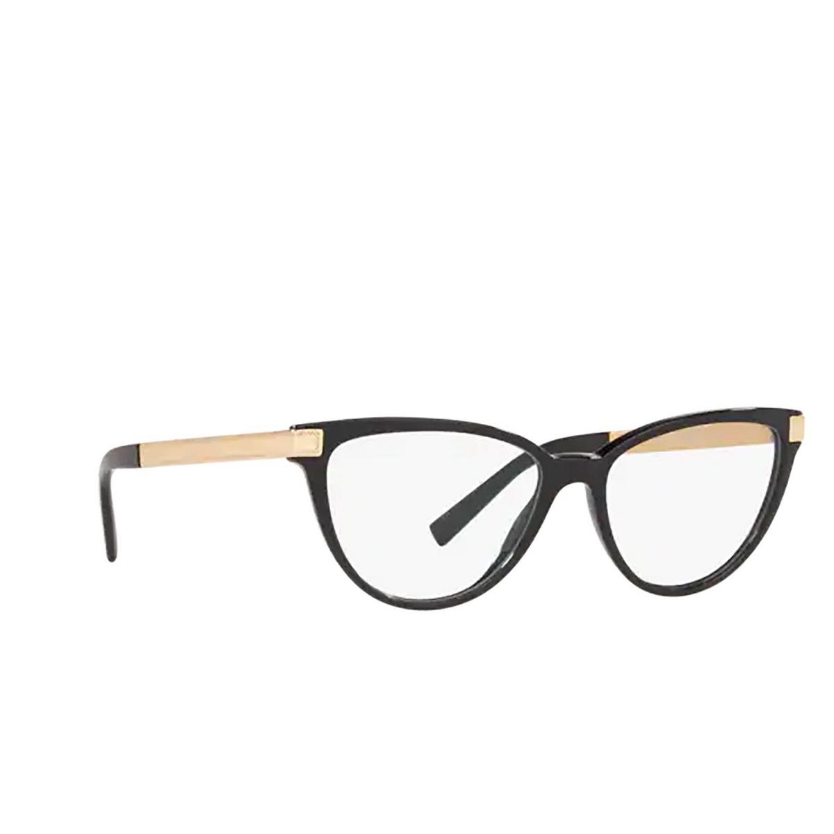 Versace® Cat-eye Eyeglasses: VE3271 color Black GB1 - three-quarters view.