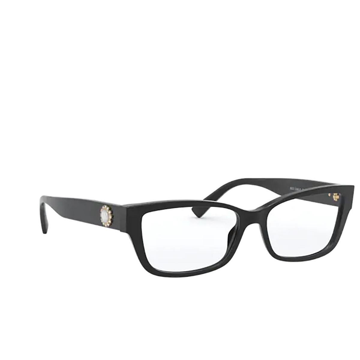 Versace® Rectangle Eyeglasses: VE3284B color Black GB1 - three-quarters view.
