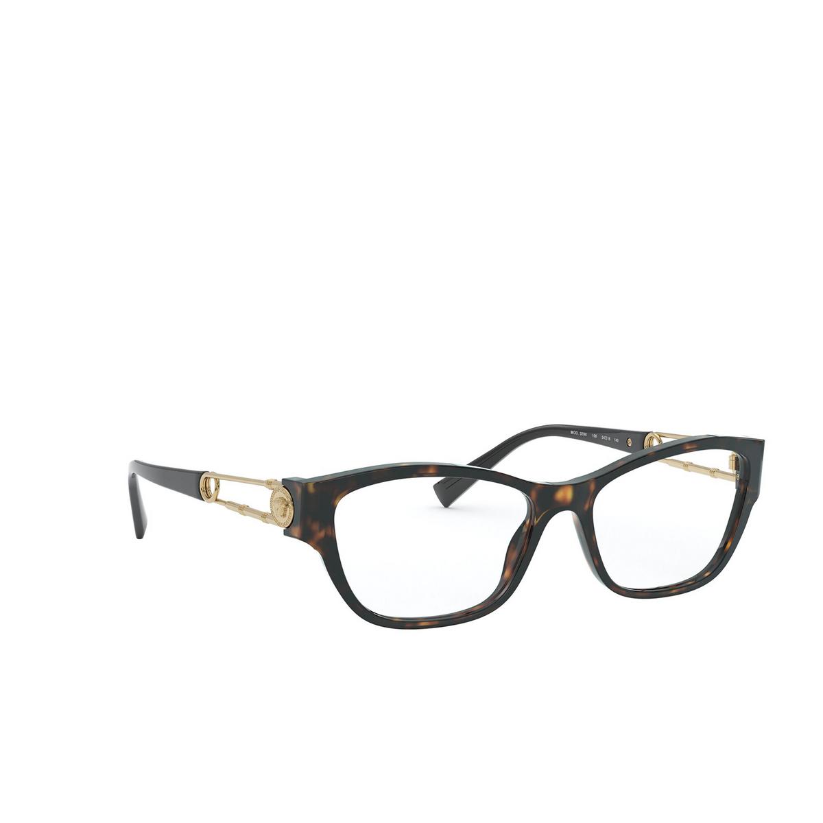 Versace® Cat-eye Eyeglasses: VE3288 color Havana 108 - three-quarters view.