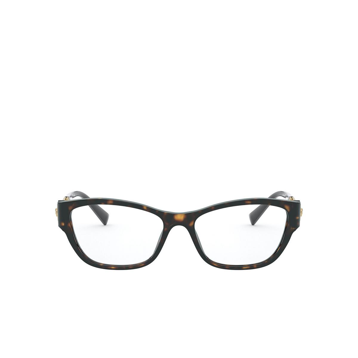 Versace® Cat-eye Eyeglasses: VE3288 color Havana 108 - front view.