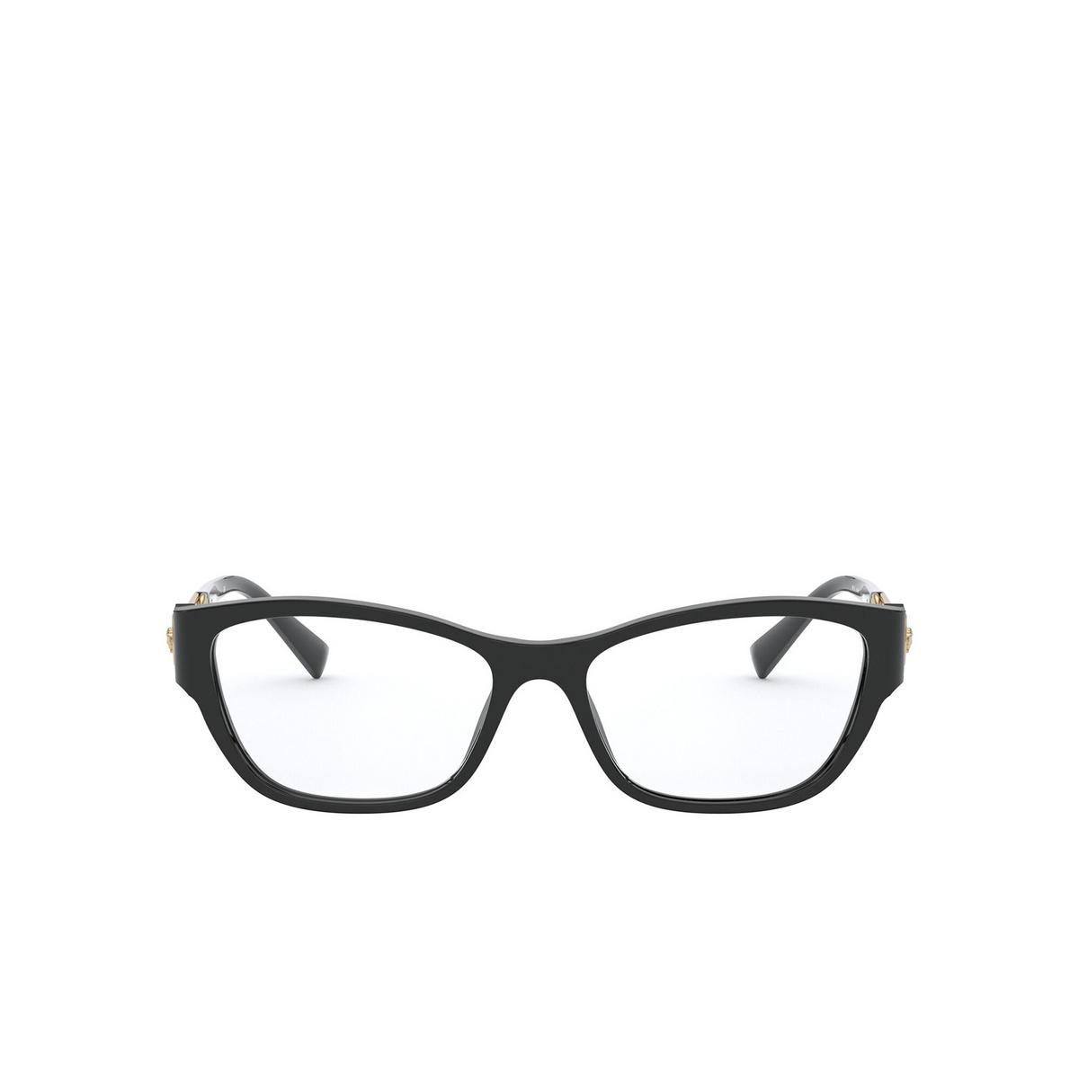 Versace® Cat-eye Eyeglasses: VE3288 color Black GB1 - front view.