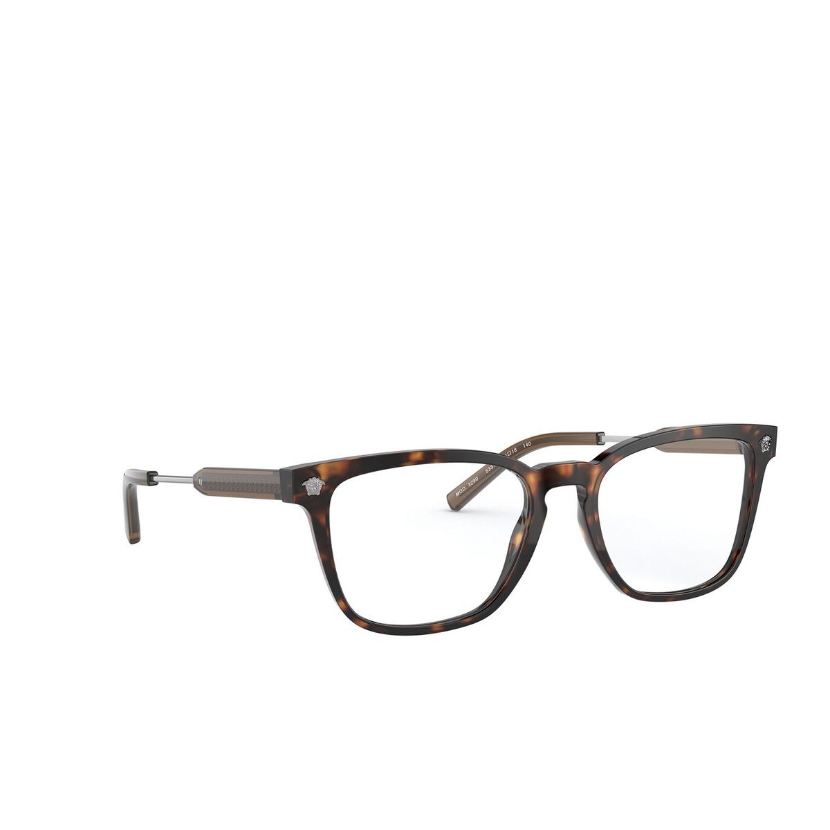 Versace® Square Eyeglasses: VE3290 color Havana 5337.