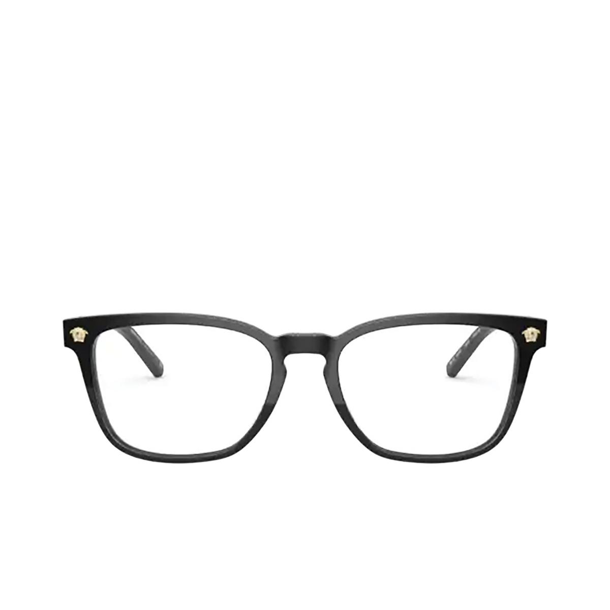 Versace® Rectangle Eyeglasses: VE3290 color Black GB1.