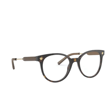 Versace® Round Eyeglasses: VE3291 color Havana 108.