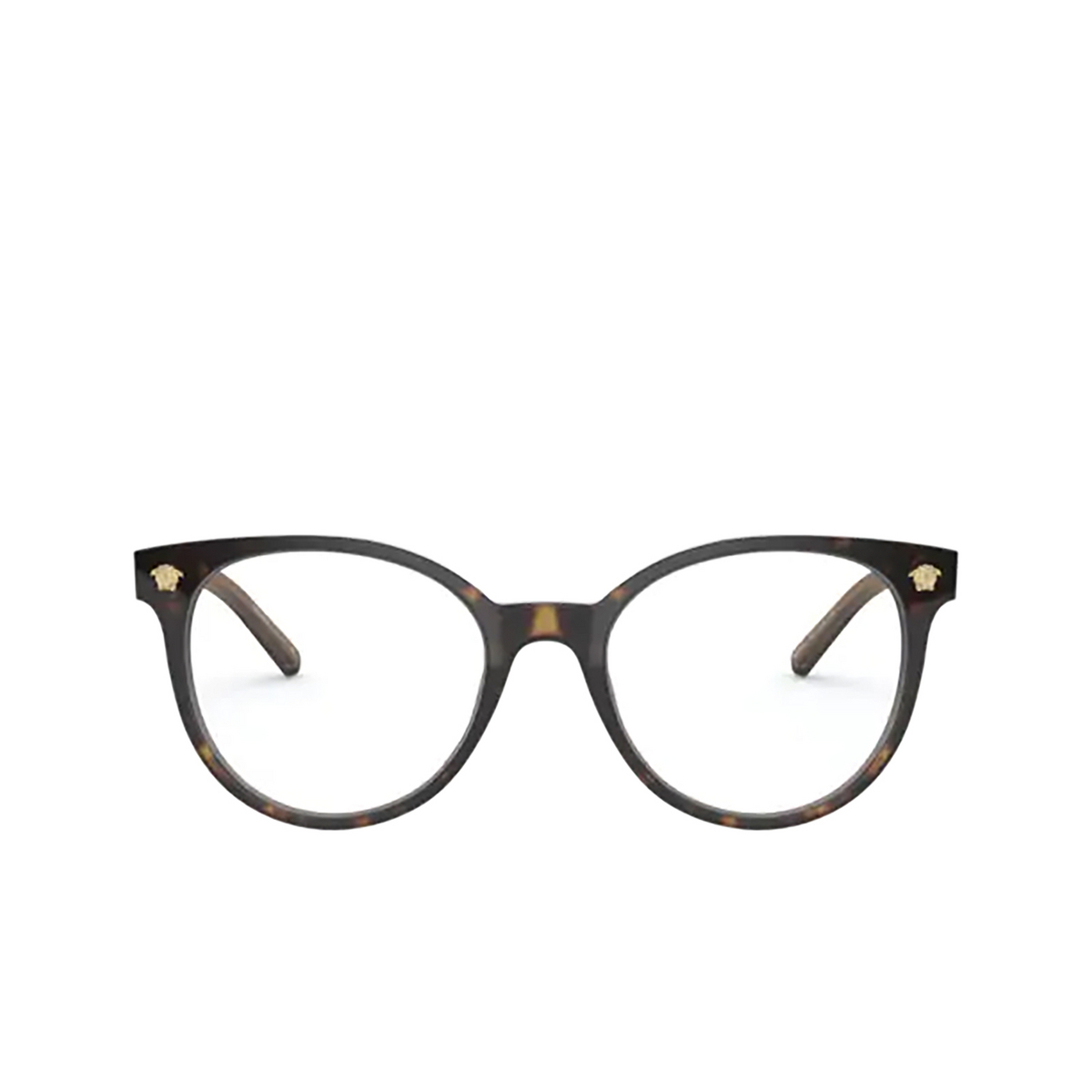 Versace® Round Eyeglasses: VE3291 color Havana 108.