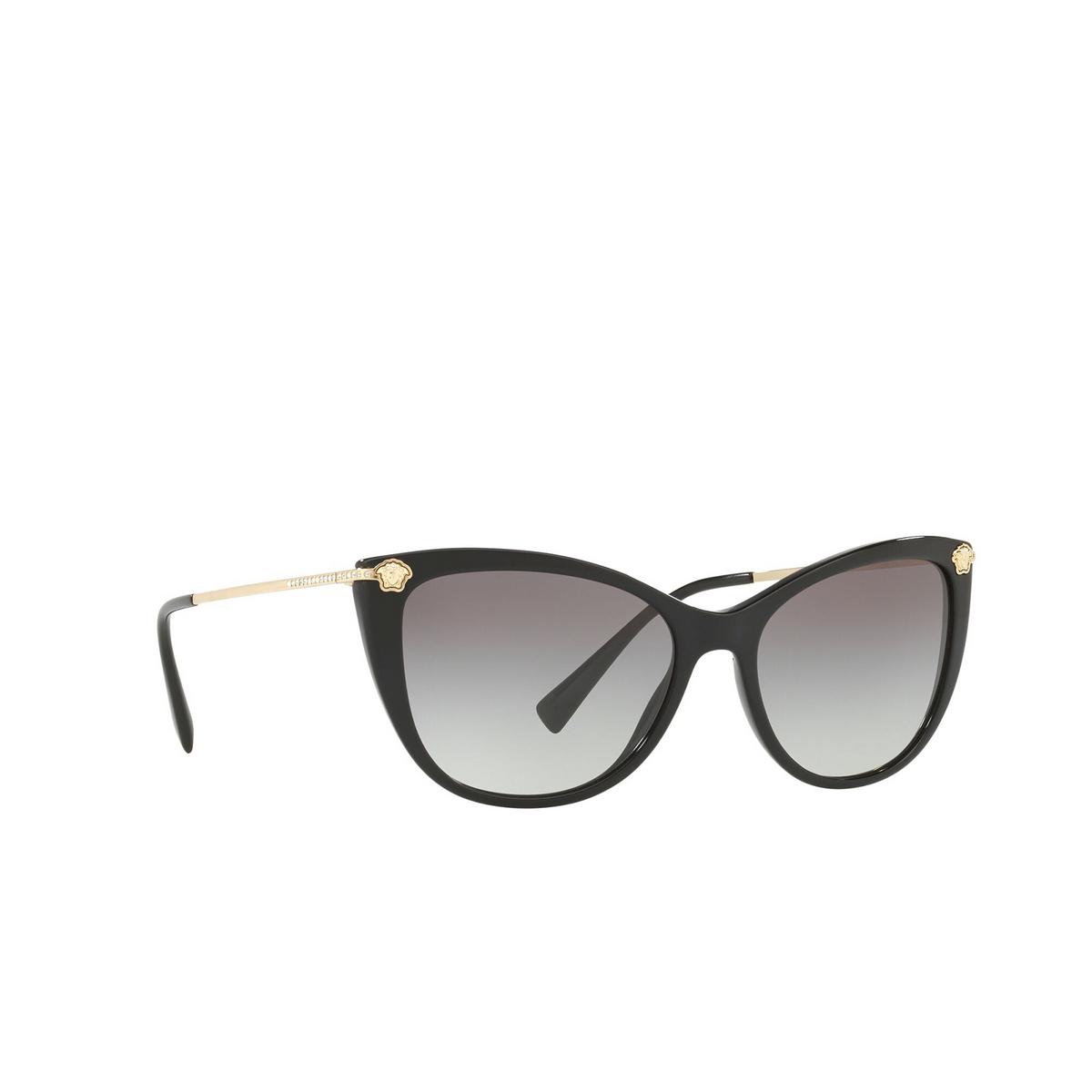 Versace® Cat-eye Sunglasses: VE4345B color Black GB1/11 - three-quarters view.