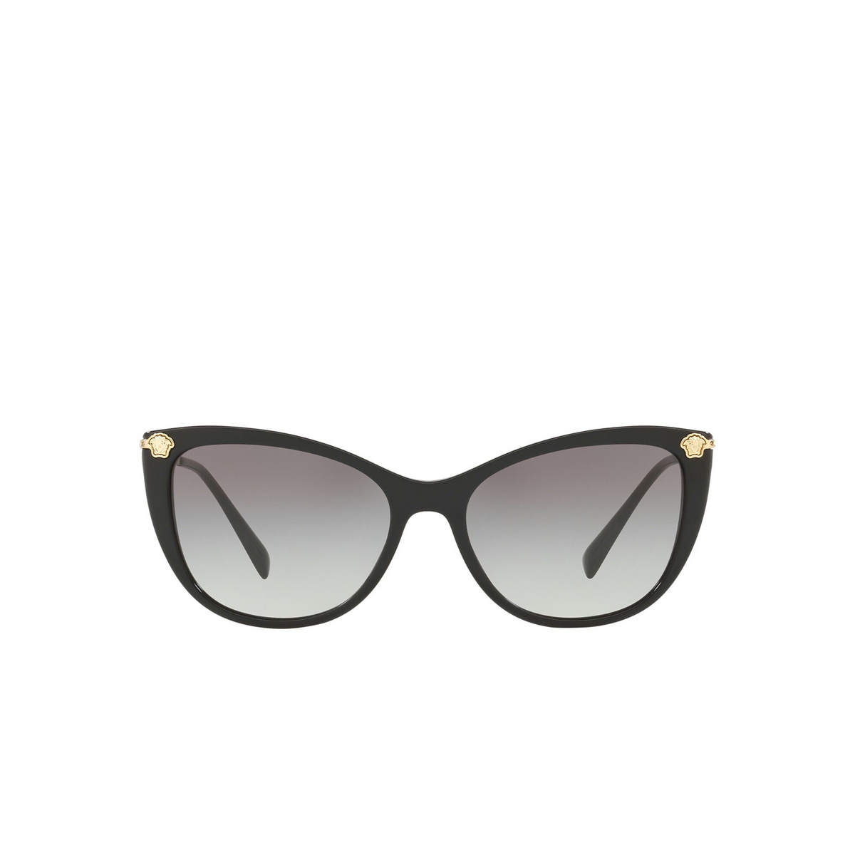 Versace® Cat-eye Sunglasses: VE4345B color Black GB1/11 - front view.