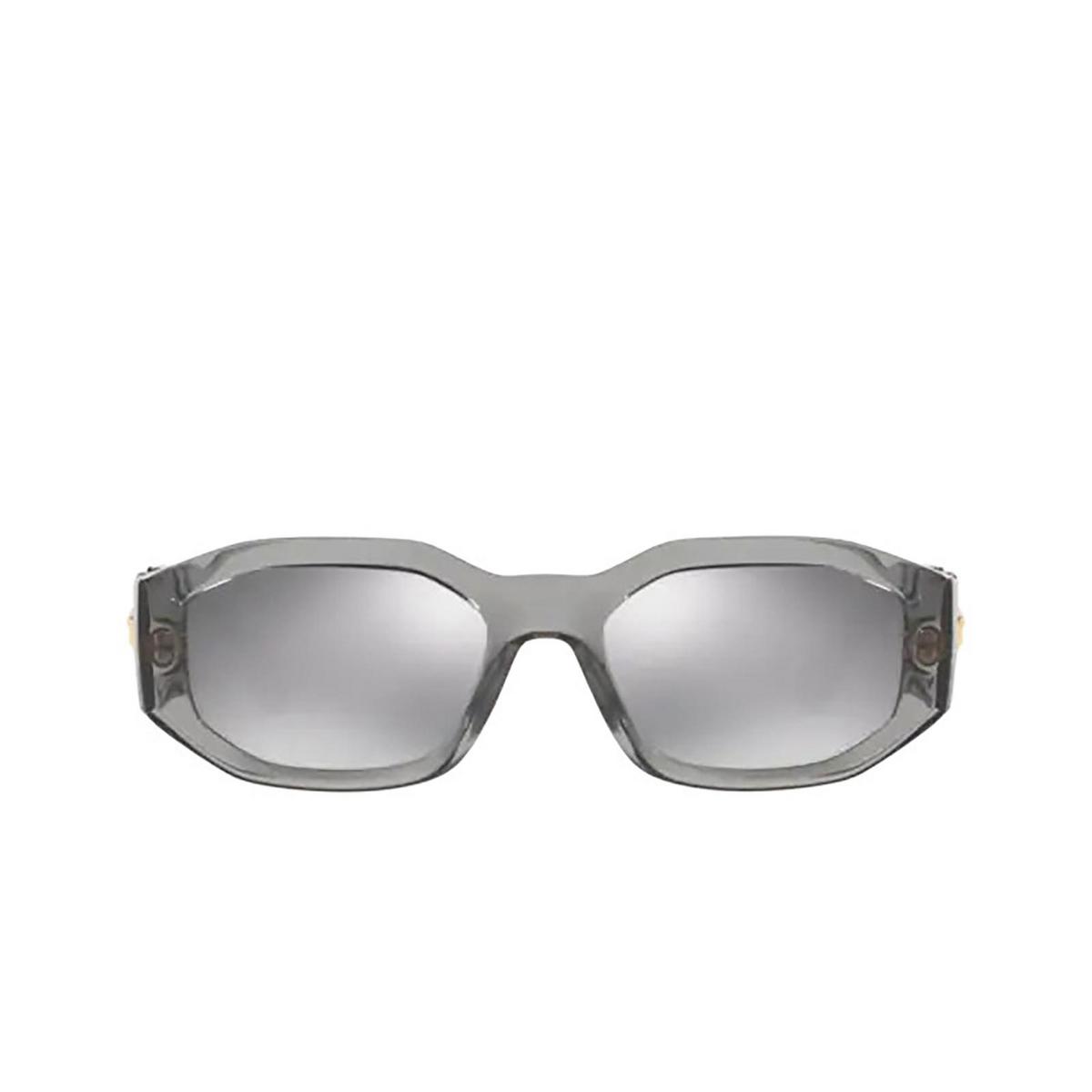 Versace® Irregular Sunglasses: VE4361 color Transparent Grey 311/6G.