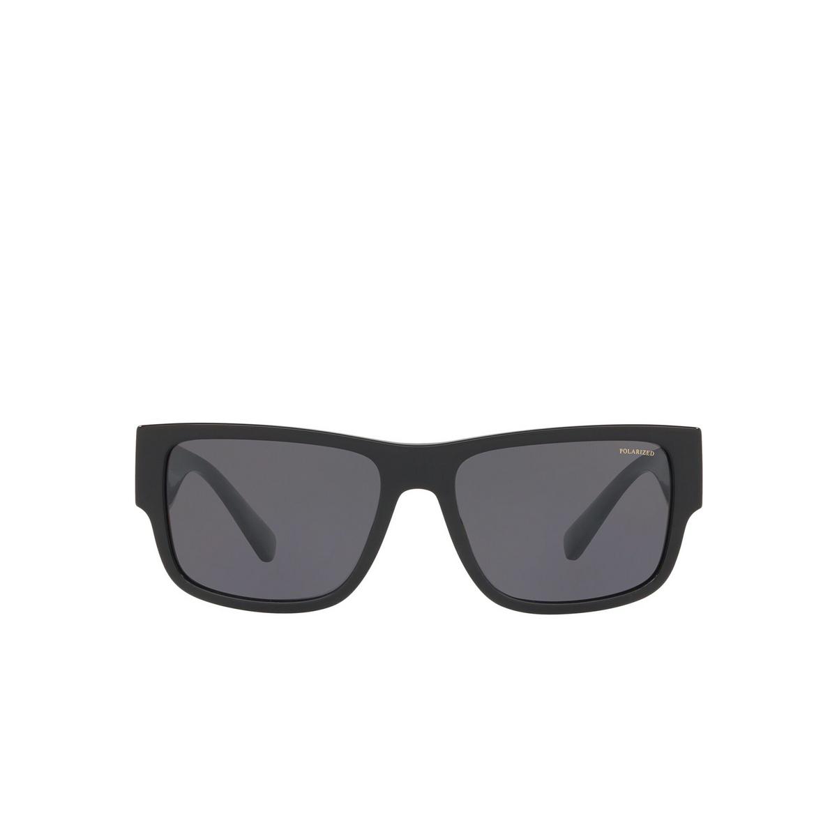 Versace® Square Sunglasses: VE4369 color Black GB1/81 - front view.