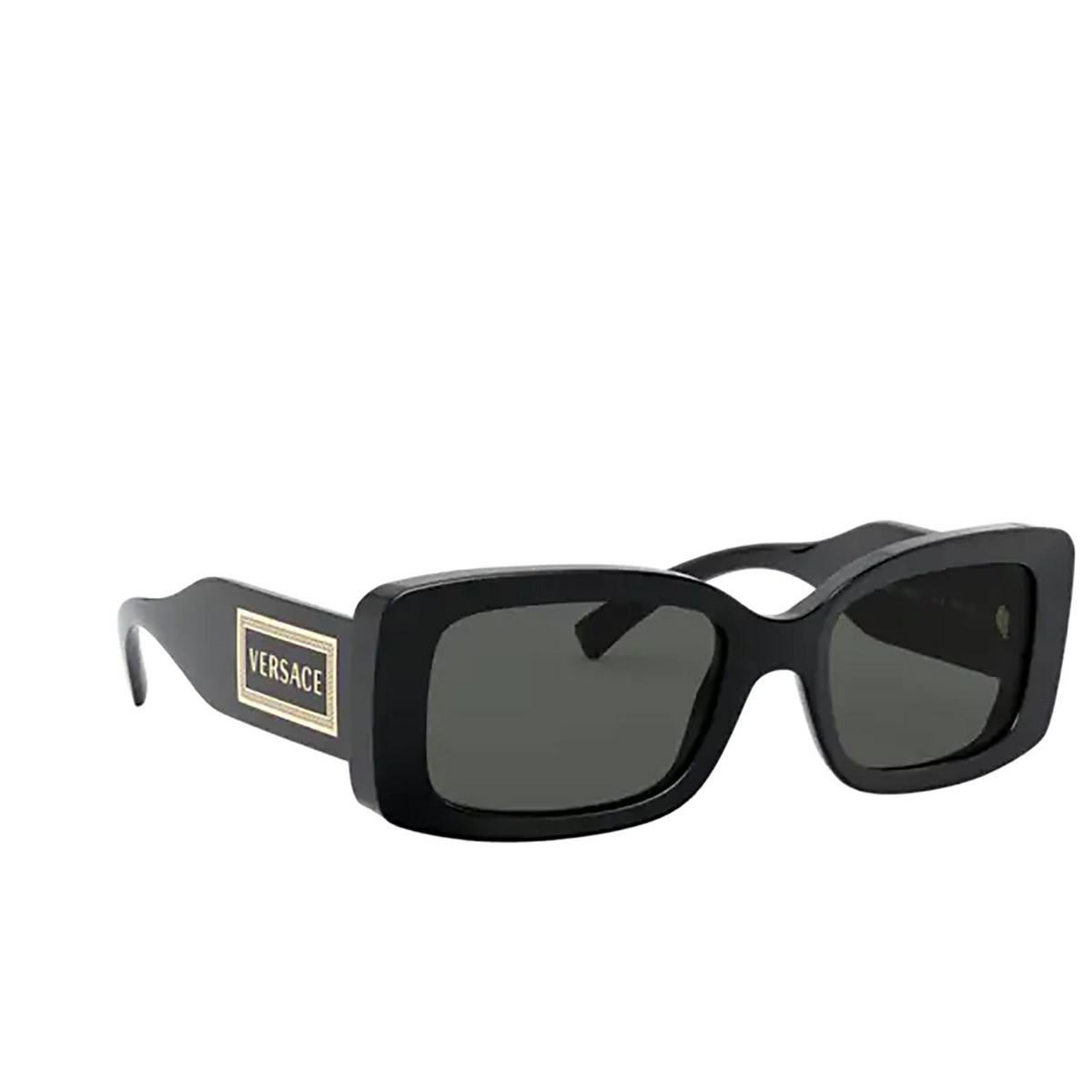Versace® Rectangle Sunglasses: VE4377 color Black GB1/87.