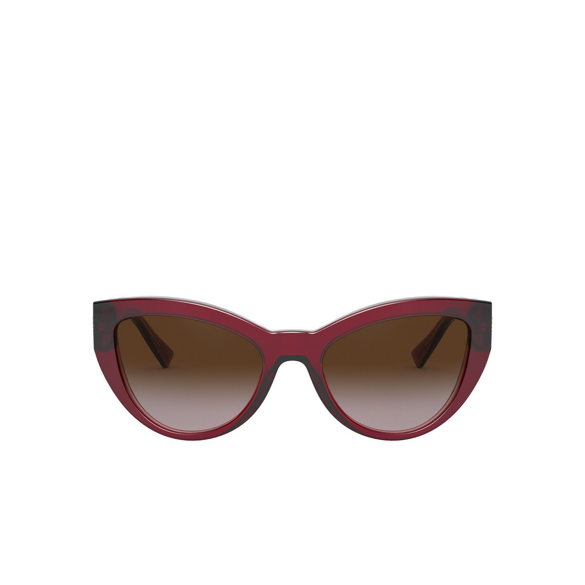 Versace® Cat-eye Sunglasses: VE4381B color Transparent Red 388/13 - front view.