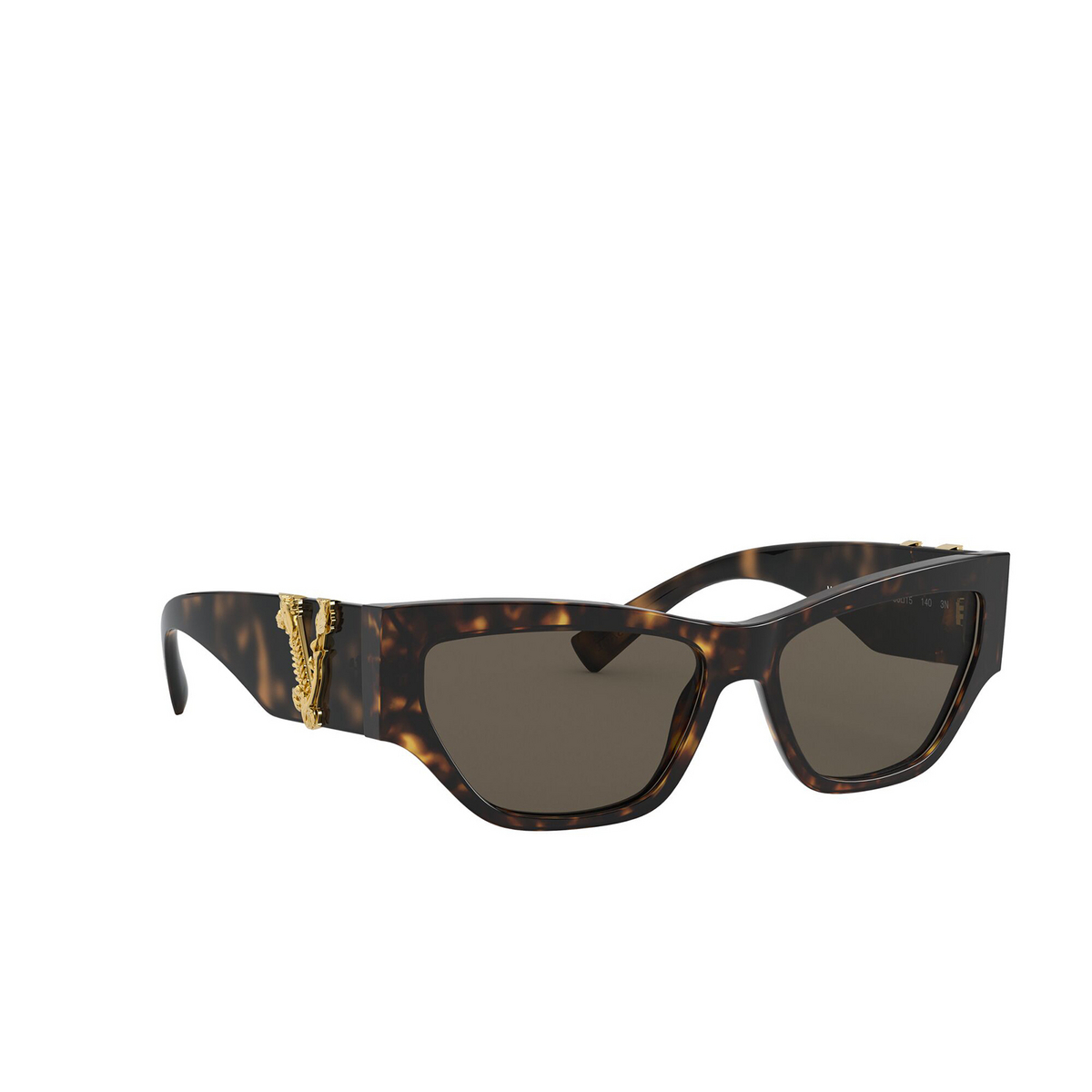 Versace® Cat-eye Sunglasses: VE4383 color Havana 944/3 - three-quarters view.