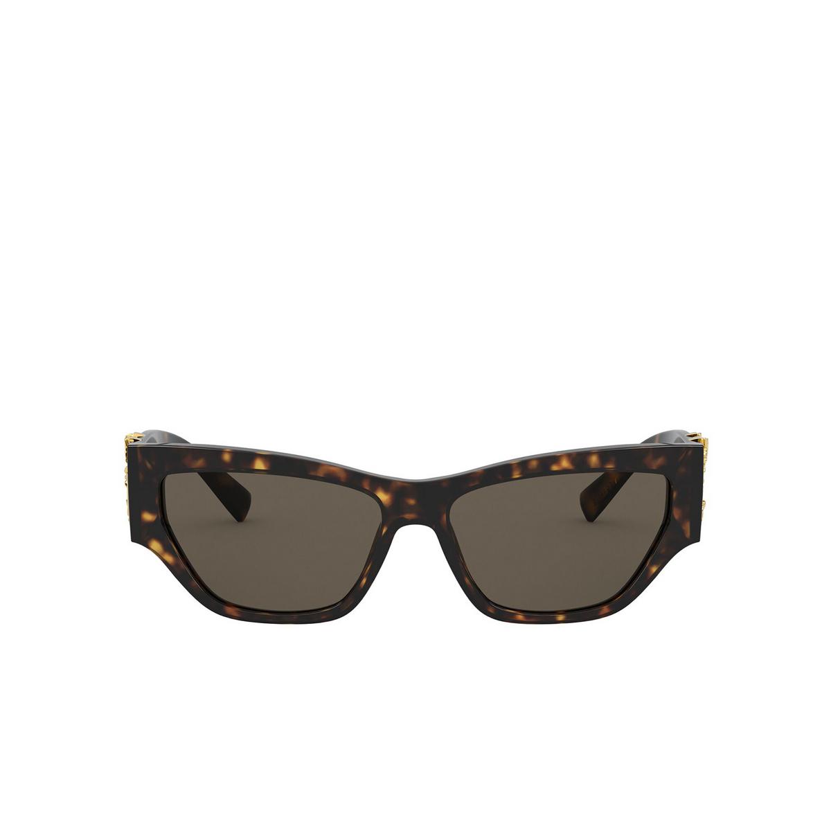Versace® Cat-eye Sunglasses: VE4383 color Havana 944/3 - front view.