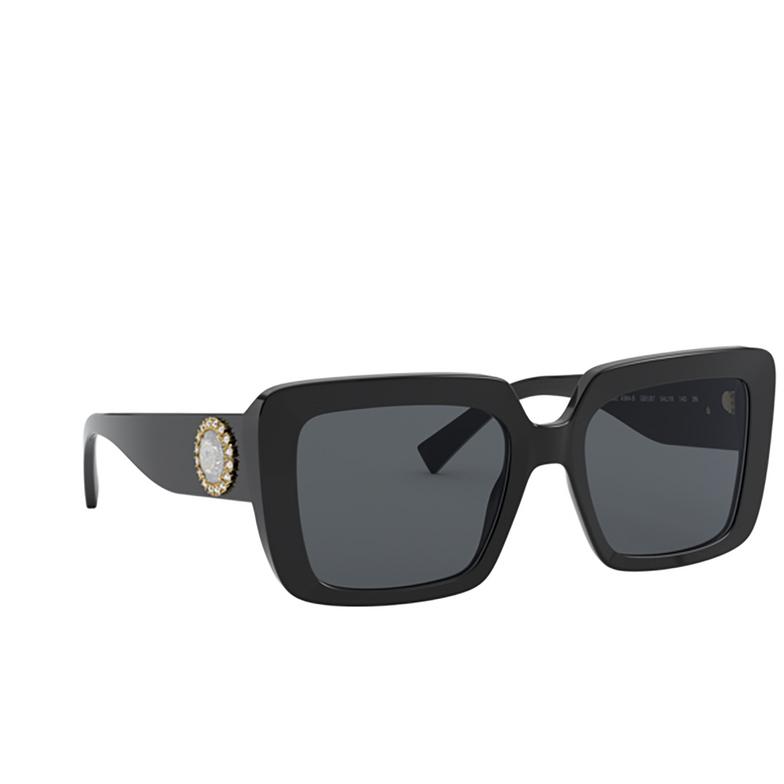 Versace® Square Sunglasses: VE4384B color Black GB1/87.