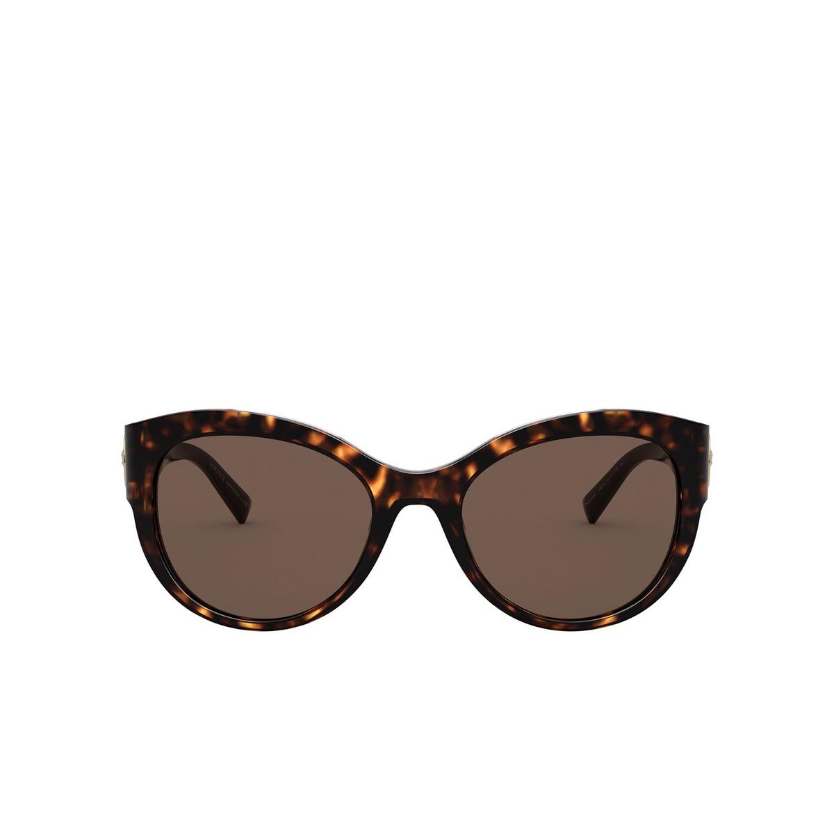 Versace® Cat-eye Sunglasses: VE4389 color Havana 108/73 - front view.