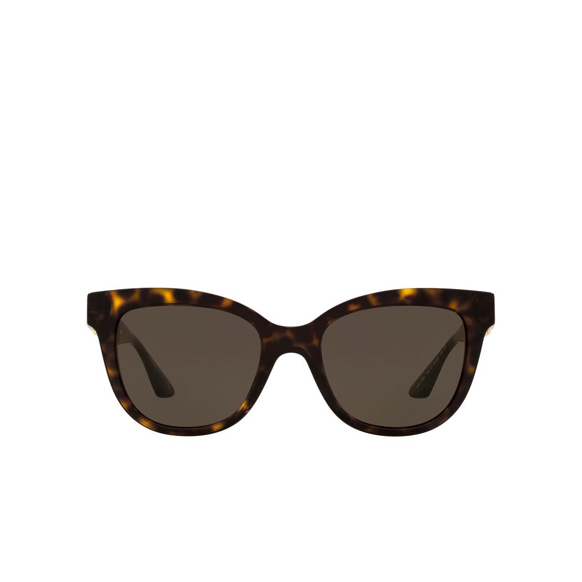 Versace® Cat-eye Sunglasses: VE4394 color Havana 108/73 - front view.