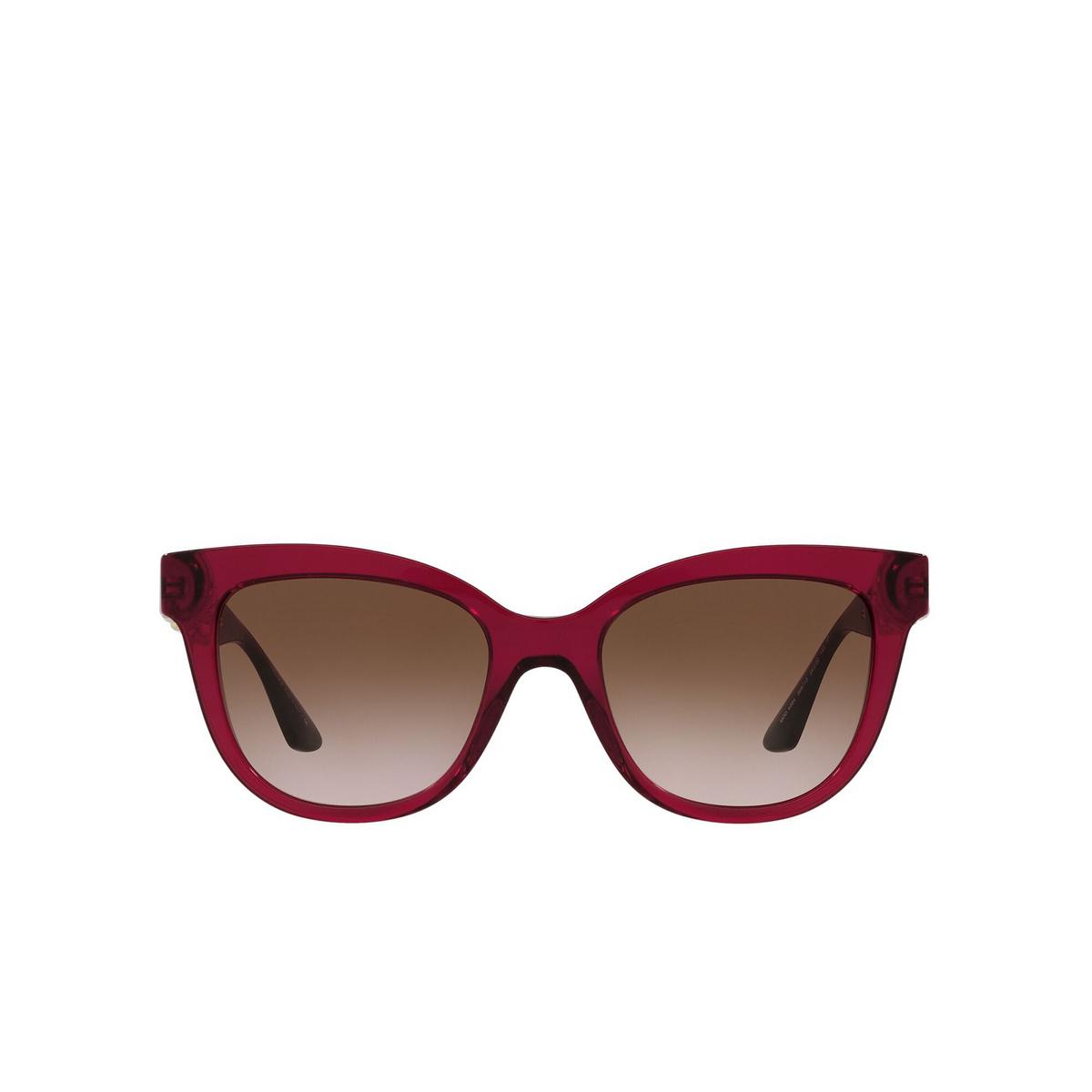 Versace® Cat-eye Sunglasses: VE4394 color Bordeaux Transparent 388/13 - front view.