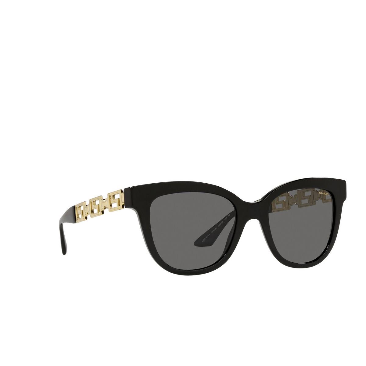 Versace® Cat-eye Sunglasses: VE4394 color Black GB1/81 - three-quarters view.