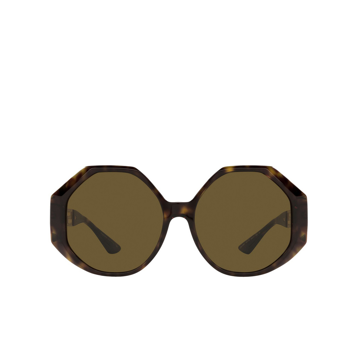 Versace® Irregular Sunglasses: VE4395 color Havana 108/73 - front view.