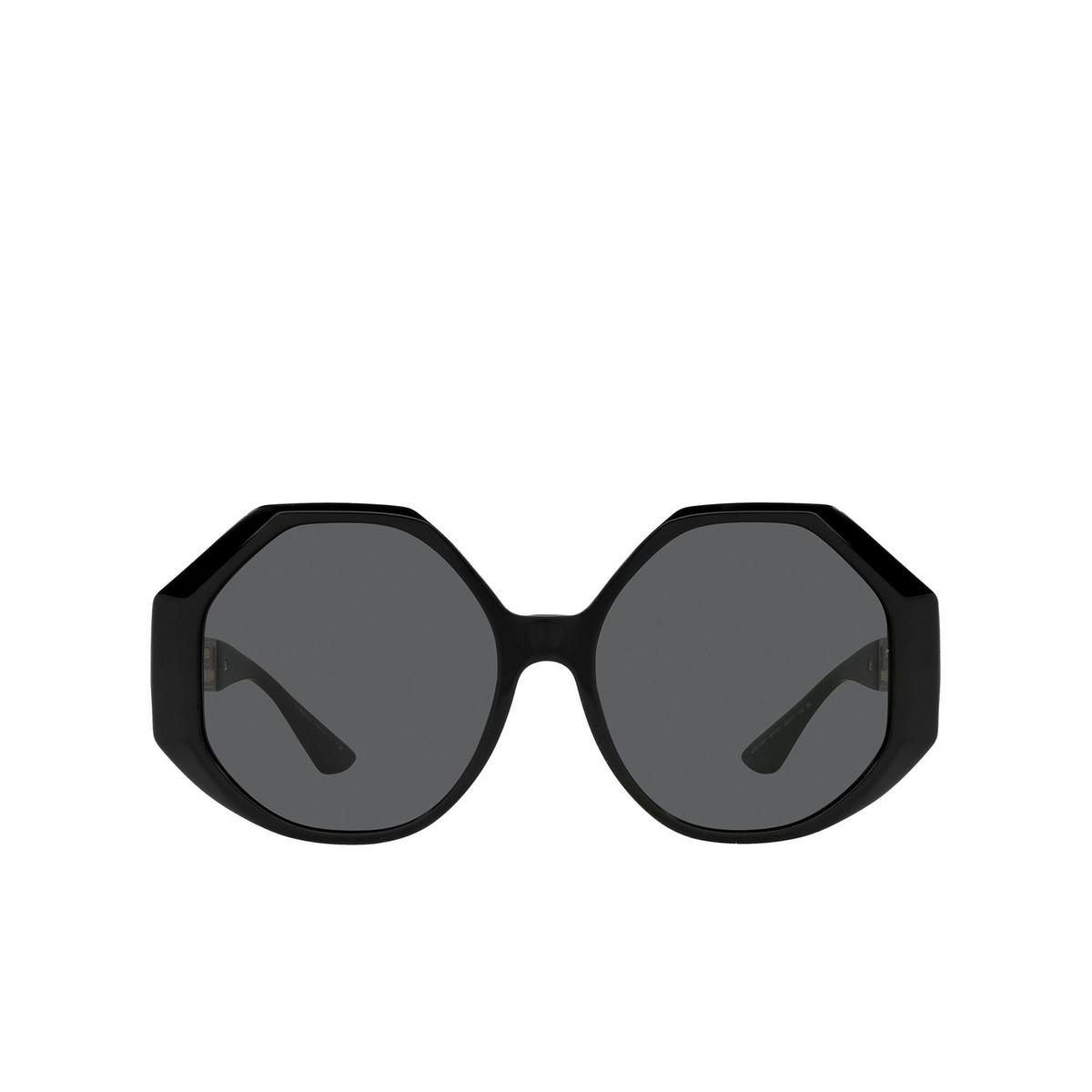 Versace® Irregular Sunglasses: VE4395 color Black GB1/87 - front view.