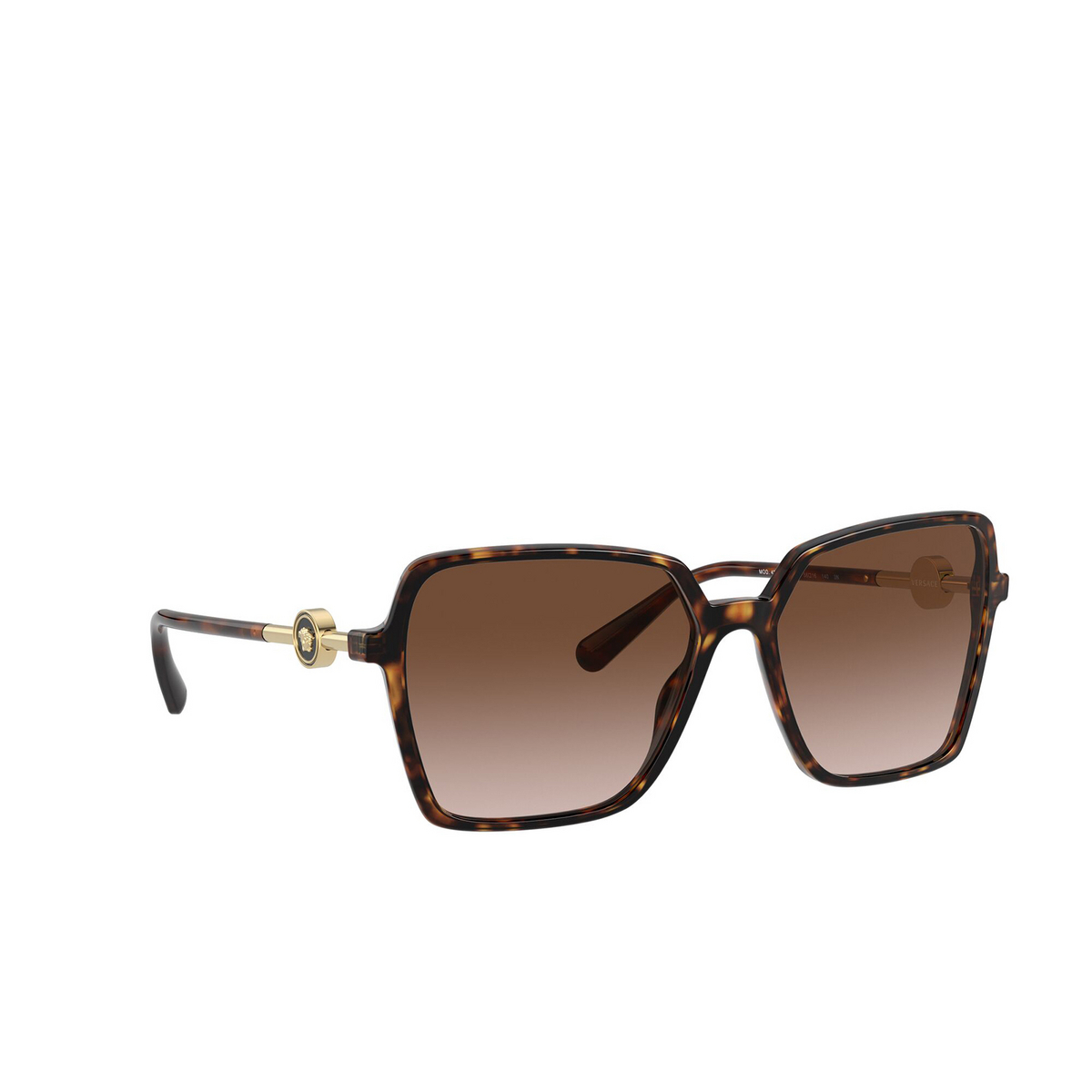 Versace® Square Sunglasses: VE4396 color Havana 108/13 - three-quarters view.