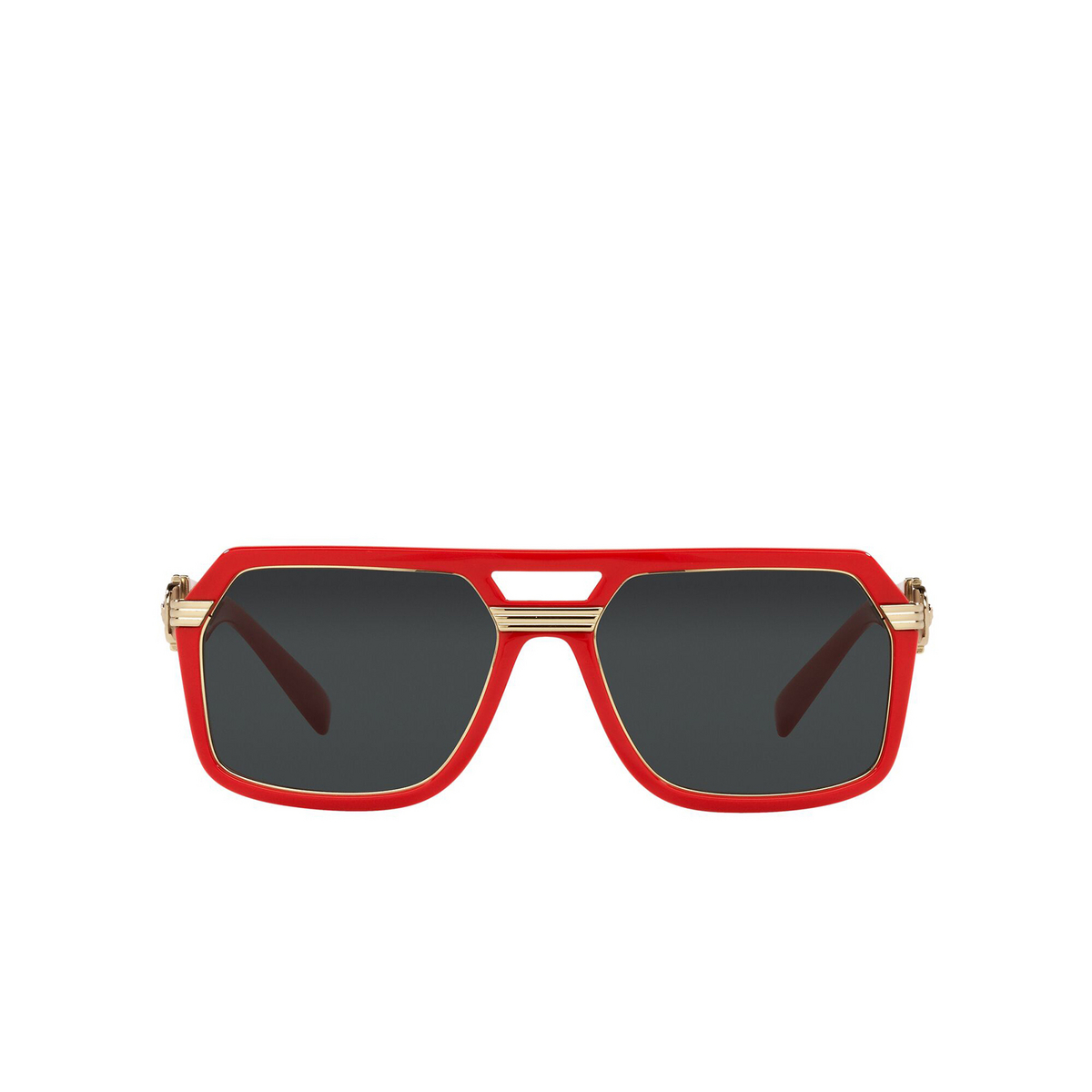 Versace® Aviator Sunglasses: VE4399 color Red 530987 - front view.