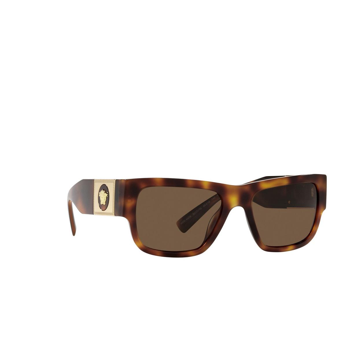Versace® Rectangle Sunglasses: VE4406 color Havana 521773 - three-quarters view.