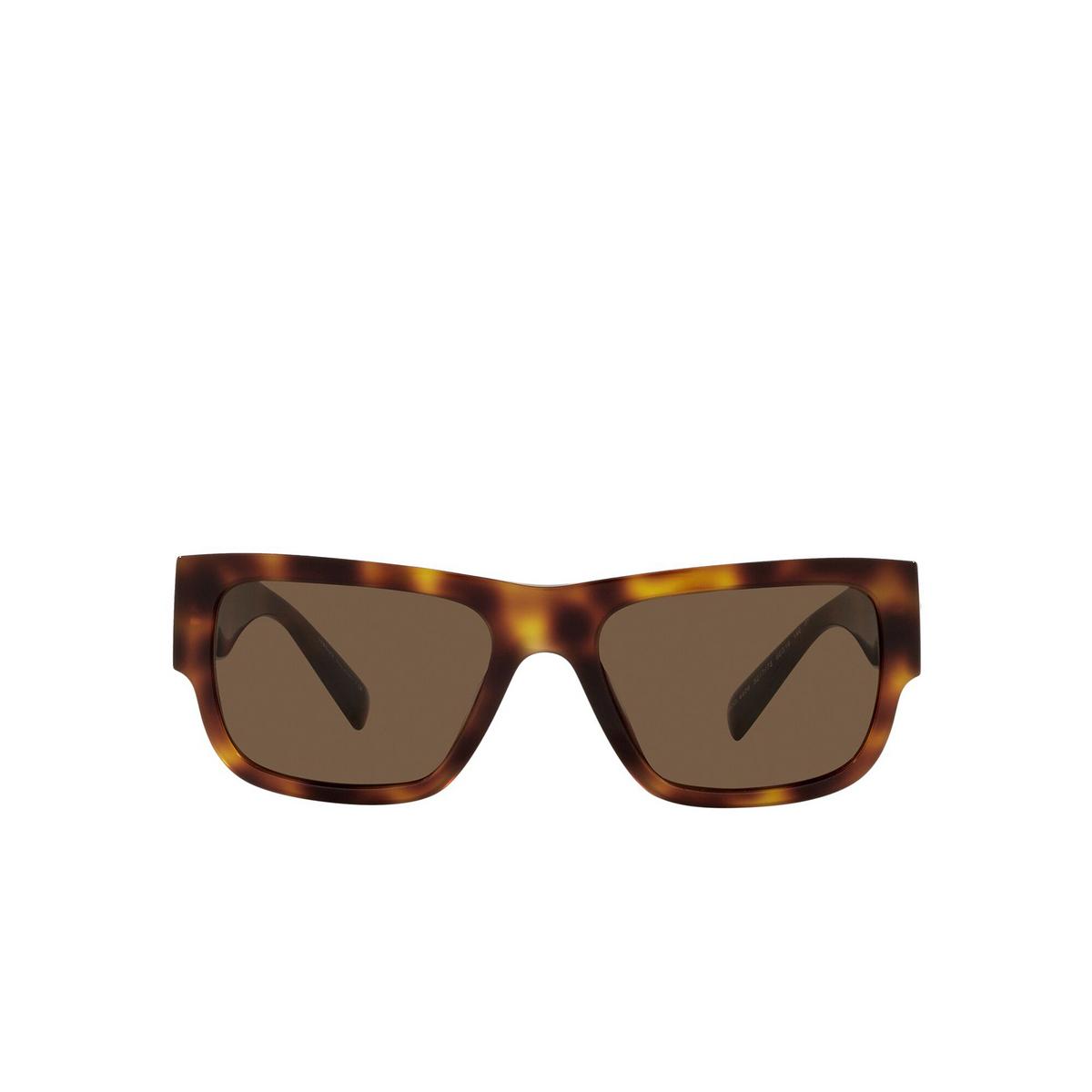 Versace® Rectangle Sunglasses: VE4406 color Havana 521773 - front view.