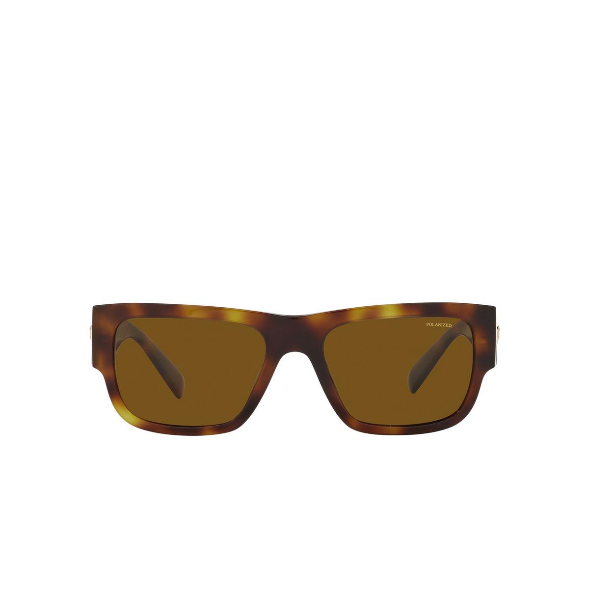Versace® Rectangle Sunglasses: VE4406 color Havana 521783 - front view.