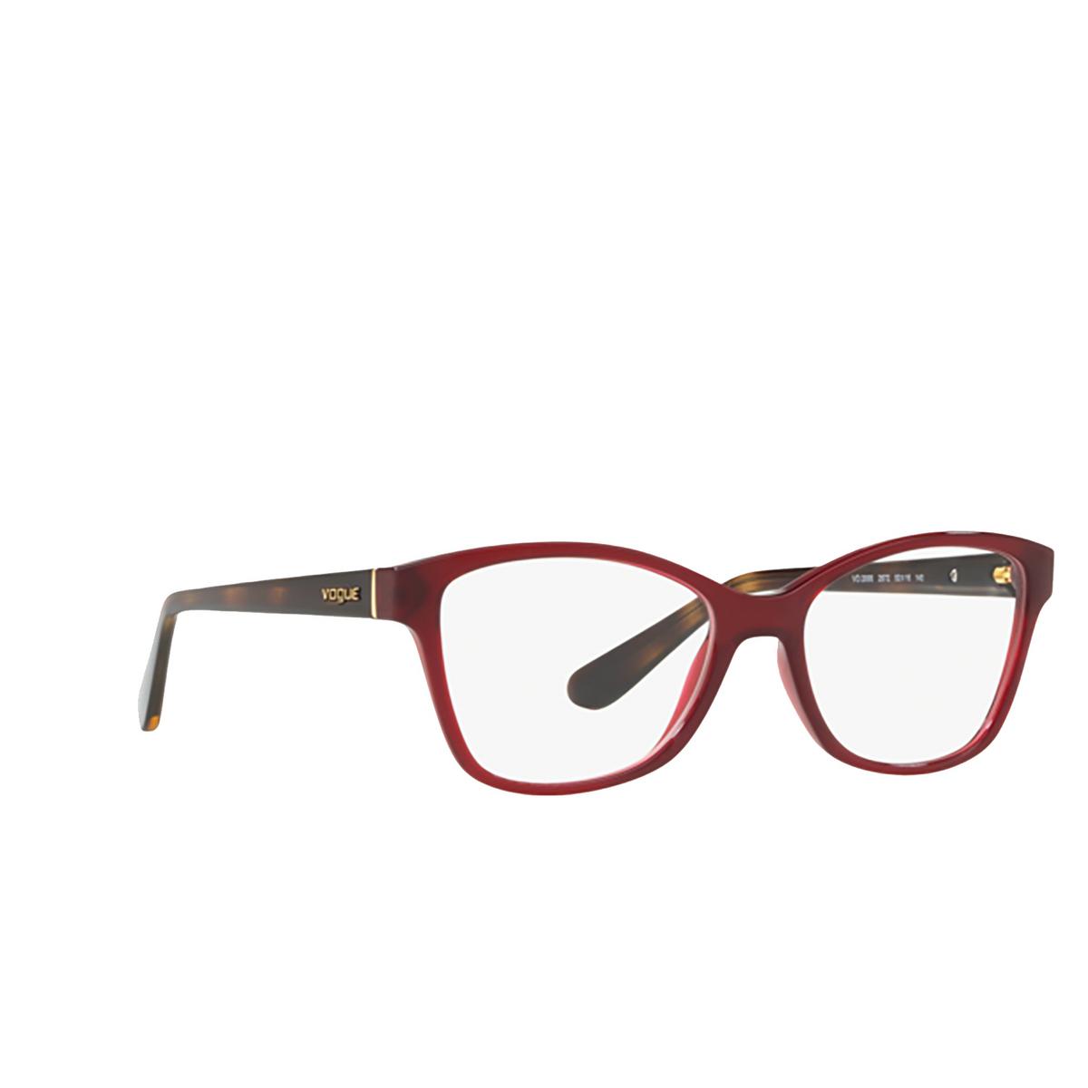Vogue® Square Eyeglasses: VO2998 color Opal Dark Red 2672.