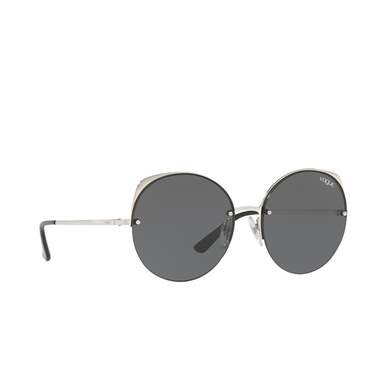 Vogue® Round Sunglasses: VO4081S color Silver 323/87 - 2/3.