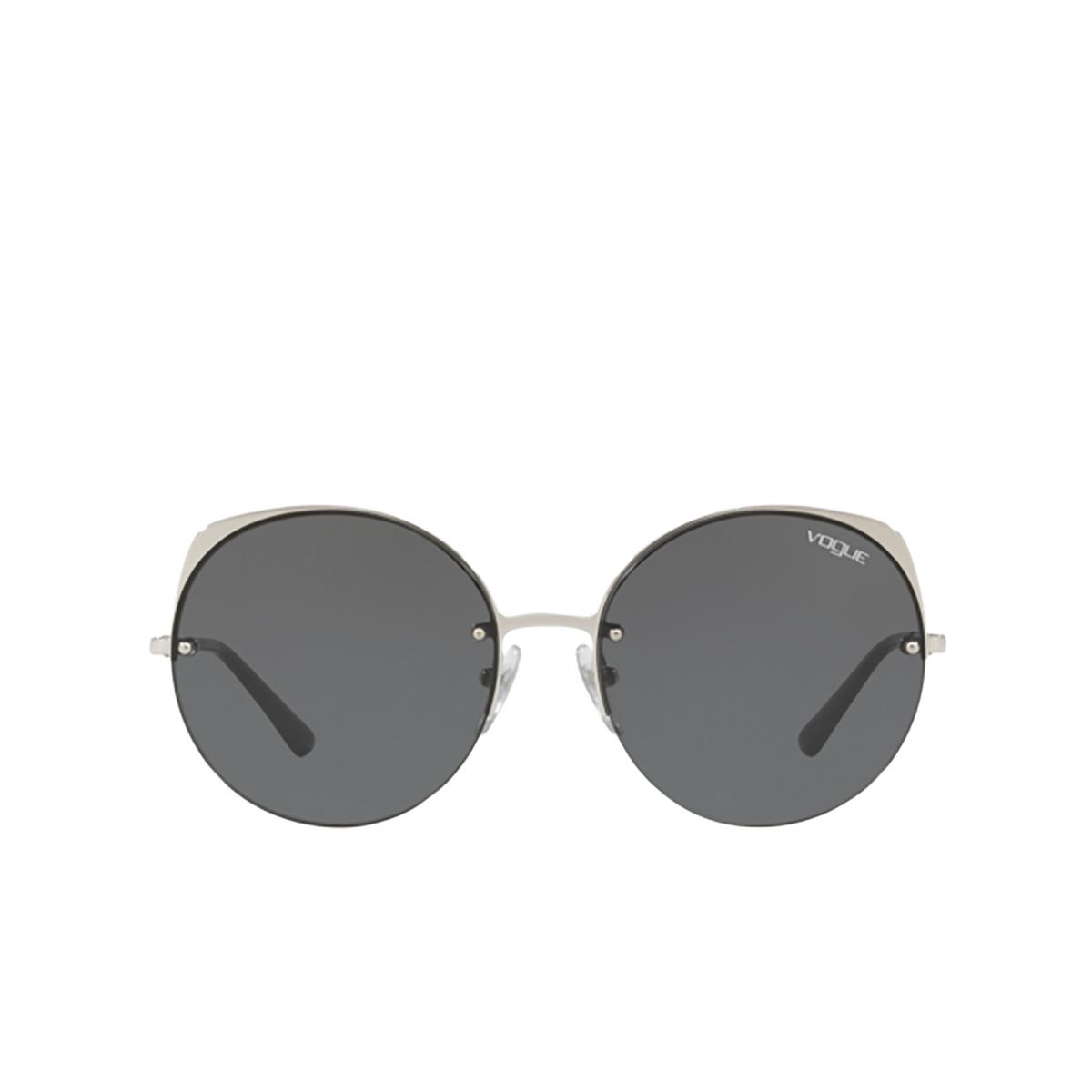 Vogue® Round Sunglasses: VO4081S color Silver 323/87 - 1/3.