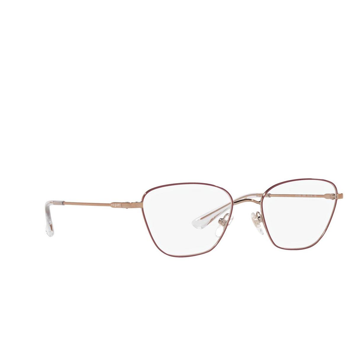 Vogue® Irregular Eyeglasses: VO4163 color Top Bordeaux / Gold Pink 5089.