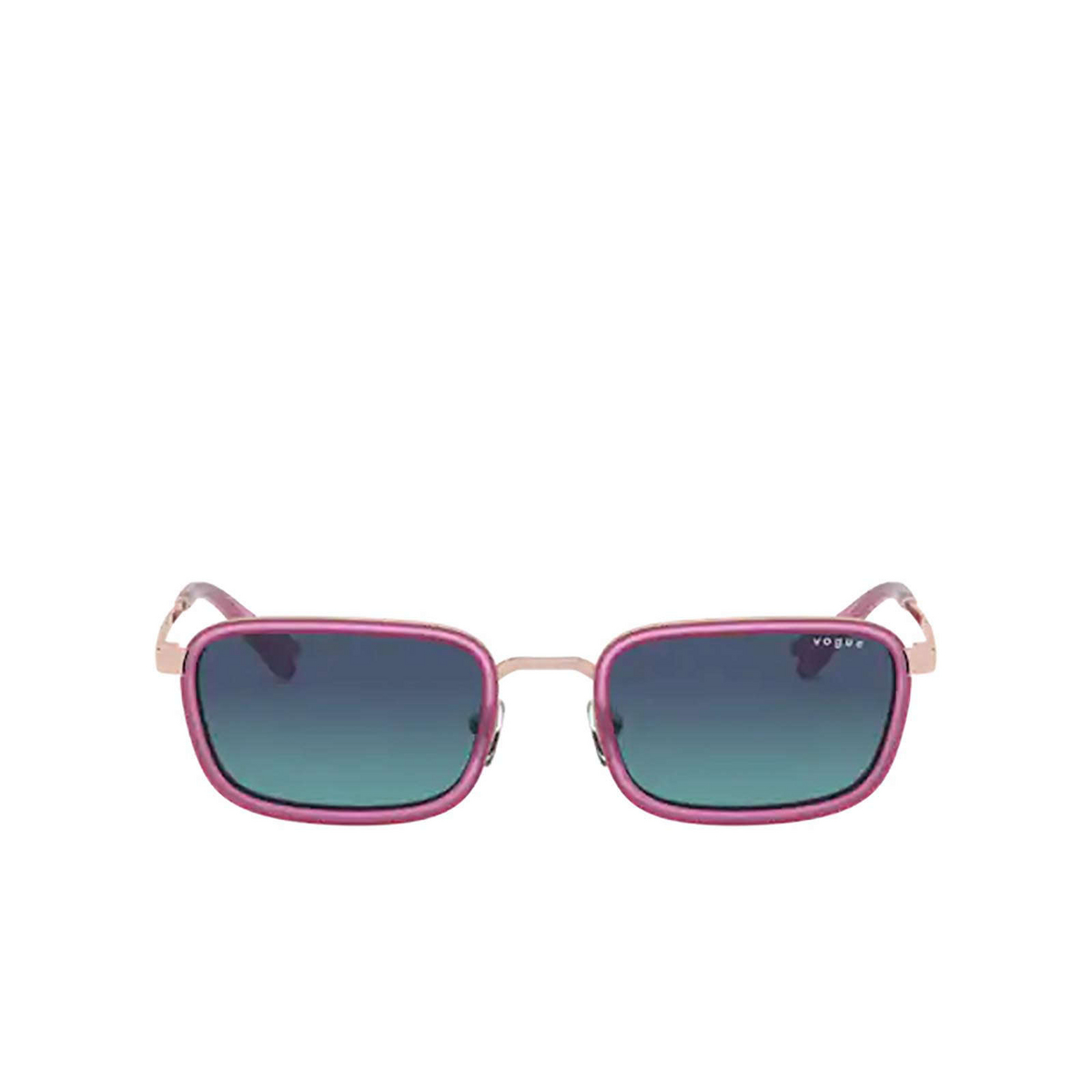 Vogue® Rectangle Sunglasses: VO4166S color Rose Gold 50754S - front view.
