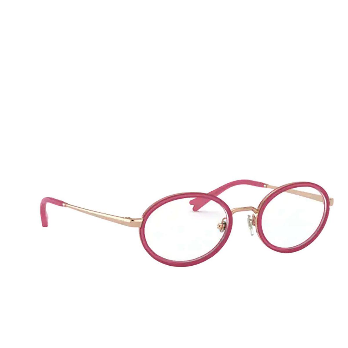 Vogue® Oval Eyeglasses: VO4167 color Rose Gold 5075 - three-quarters view.